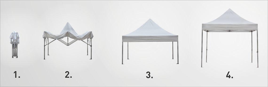 Ilustrace: Rozložení a sestavení nůžkového stavu ve dvojici